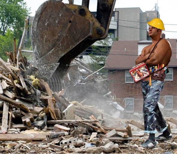 Fedor destroys house