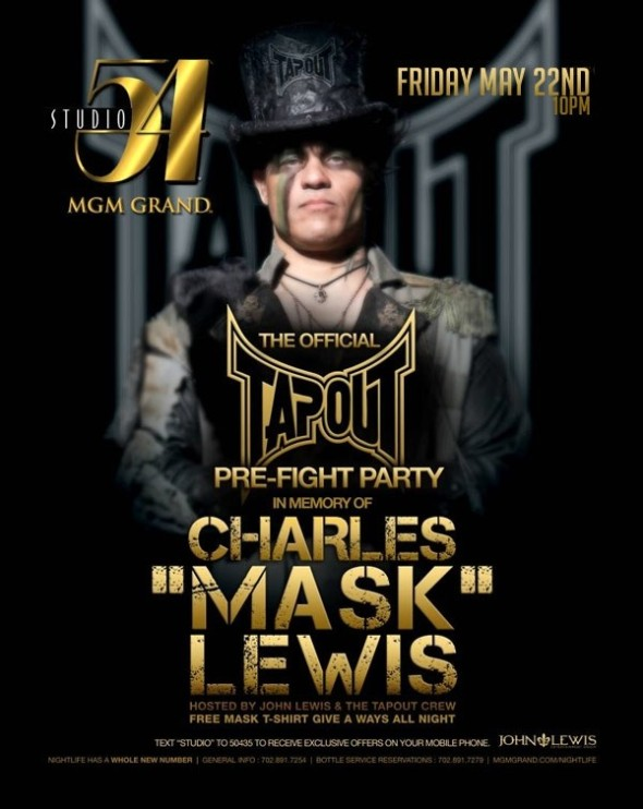charles lewus tapout pre fight party